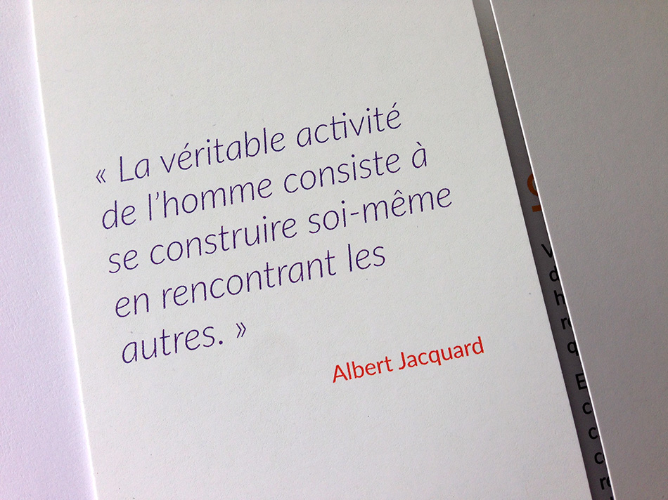 Citation d'Albert Jacquard - se construire soi-même