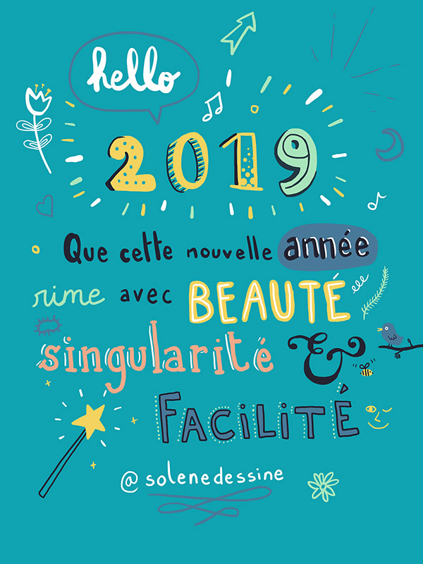 cartes de voeux 2019 - Procreate